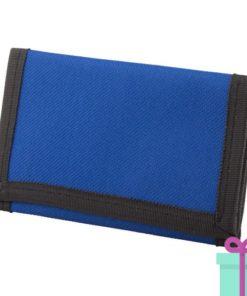Portemonnee budget blauw bedrukken
