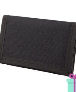 Portemonnee budget zwart bedrukken