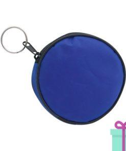 Portemonnee rond blauw bedrukken