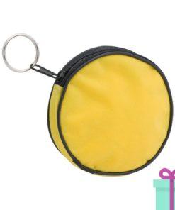 Portemonnee rond geel bedrukken