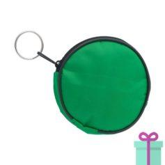 Portemonnee rond groen bedrukken