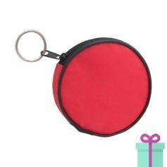 Portemonnee rond rood bedrukken