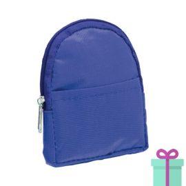 Portemonnee rugzakmodel blauw bedrukken