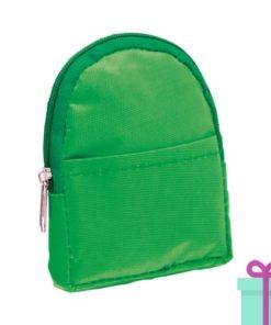Portemonnee rugzakmodel groen bedrukken