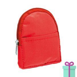 Portemonnee rugzakmodel rood bedrukken