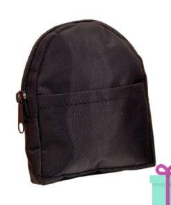 Portemonnee rugzakmodel zwart bedrukken