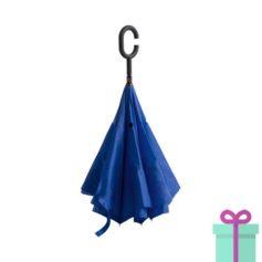 Reversible paraplu blauw bedrukken