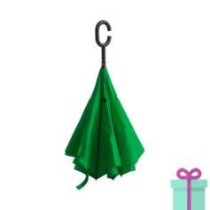 Reversible paraplu groen bedrukken