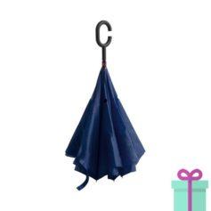 Reversible paraplu navy bedrukken