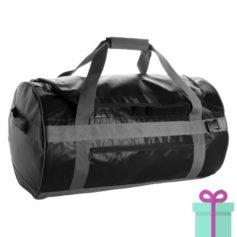 Ronde sporttas duffelbag zwart bedrukken