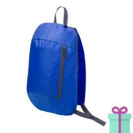 Rugtas backpack blauw bedrukken