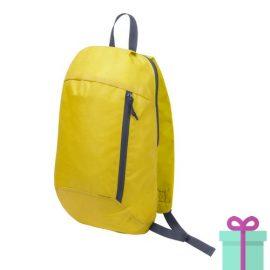 Rugtas backpack geel bedrukken