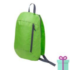 Rugtas backpack groen bedrukken