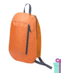 Rugtas backpack oranje bedrukken