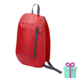 Rugtas backpack rood bedrukken