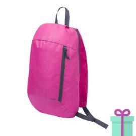 Rugtas backpack roze bedrukken