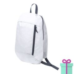 Rugtas backpack wit bedrukken