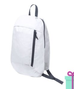 Rugtas backpack wit bedrukken