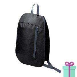 Rugtas backpack zwart bedrukken