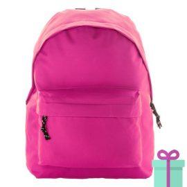 Rugtas basic budget roze bedrukken