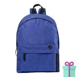 Rugzak back to school blauw bedrukken