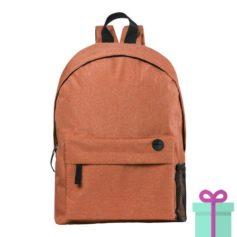 Rugzak back to school oranje bedrukken