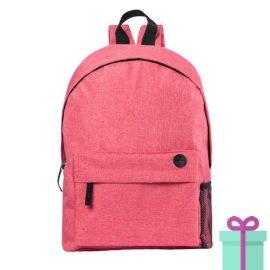 Rugzak back to school rood bedrukken
