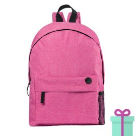 Rugzak back to school roze bedrukken