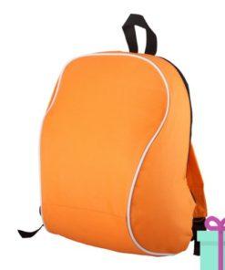 Rugzak goedkoop schouderbanden oranje bedrukken