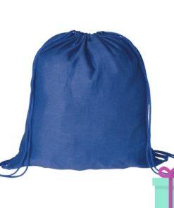 Rugzak katoen blauw bedrukken