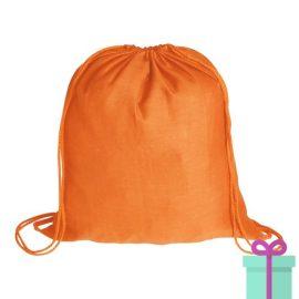 Rugzak katoen oranje bedrukken