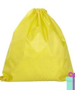 Rugzak trektouw color budget geel bedrukken