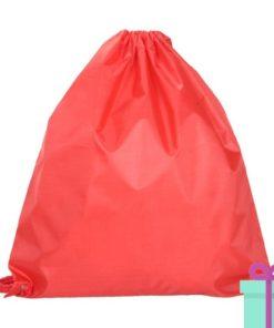 Rugzak trektouw color budget rood bedrukken