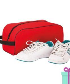 Schoen opbergtasje bedrukken rood