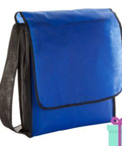 Schouder tas budget blauw bedrukken