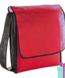 Schouder tas budget rood bedrukken