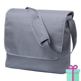 Schoudertas postmanbag grijs bedrukken