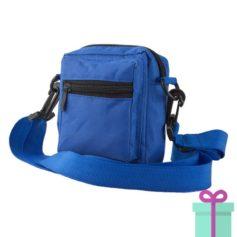 Schoudertasje polyester blauw bedrukken
