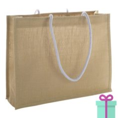 Shopper goedkoop bedrukken tas beige bedrukken