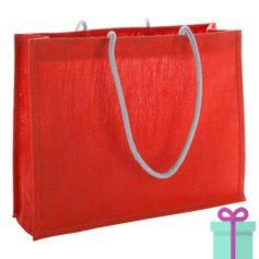 Shopper goedkoop bedrukken tas rood bedrukken