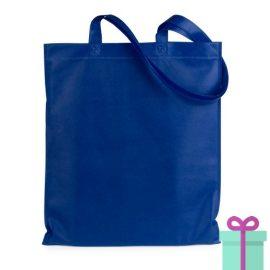Shopper non-woven budget blauw bedrukken
