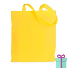 Shopper non-woven budget geel bedrukken