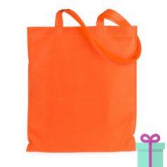Shopper non-woven budget oranje bedrukken