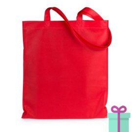 Shopper non-woven budget rood bedrukken