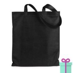 Shopper non-woven budget zwart bedrukken