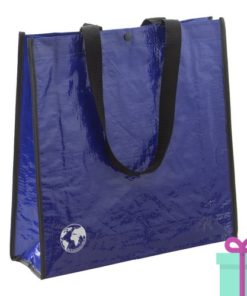 Shopper recycled blauw bedrukken
