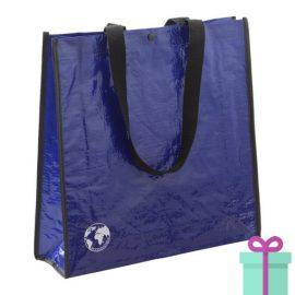 Shopper recycled blauw bedrukken