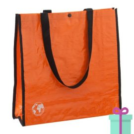 Shopper recycled oranje bedrukken