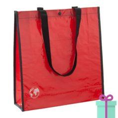 Shopper recycled rood bedrukken