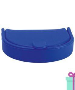 Silliconen portemonnee fashion blauw bedrukken